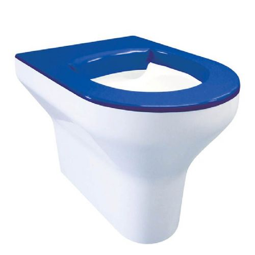 DVS V2 High Security Back-to-Wall Floorstanding WC Pan - Blue